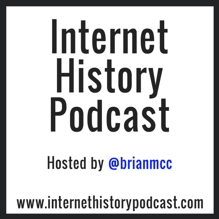 "Logo du podcast ""Internet History Podcast"", par Brian McCullough. Les 5 meilleurs podcasts web !"