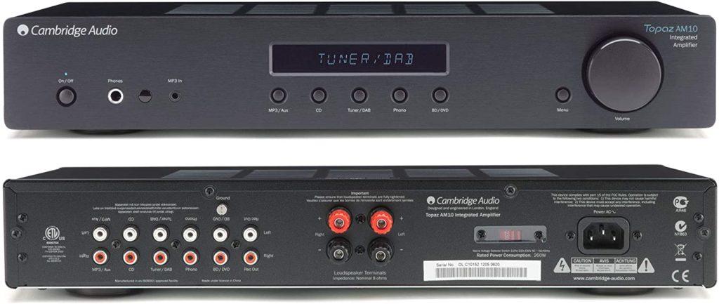 Voilà le bébé que j'ai choisi : le Cambridge Audio Topaz AM10.