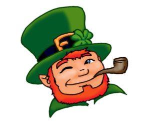 un irlandais faisant un clin d'oeil