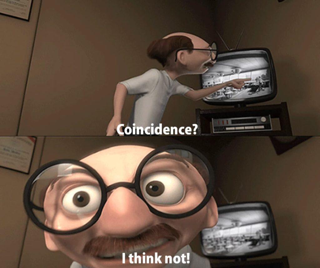 On va pas se mentir : c'est pas une coïncidence...