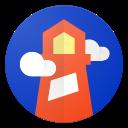 Logo de Lighthouse - l'outil de mesure de la performance web de Google