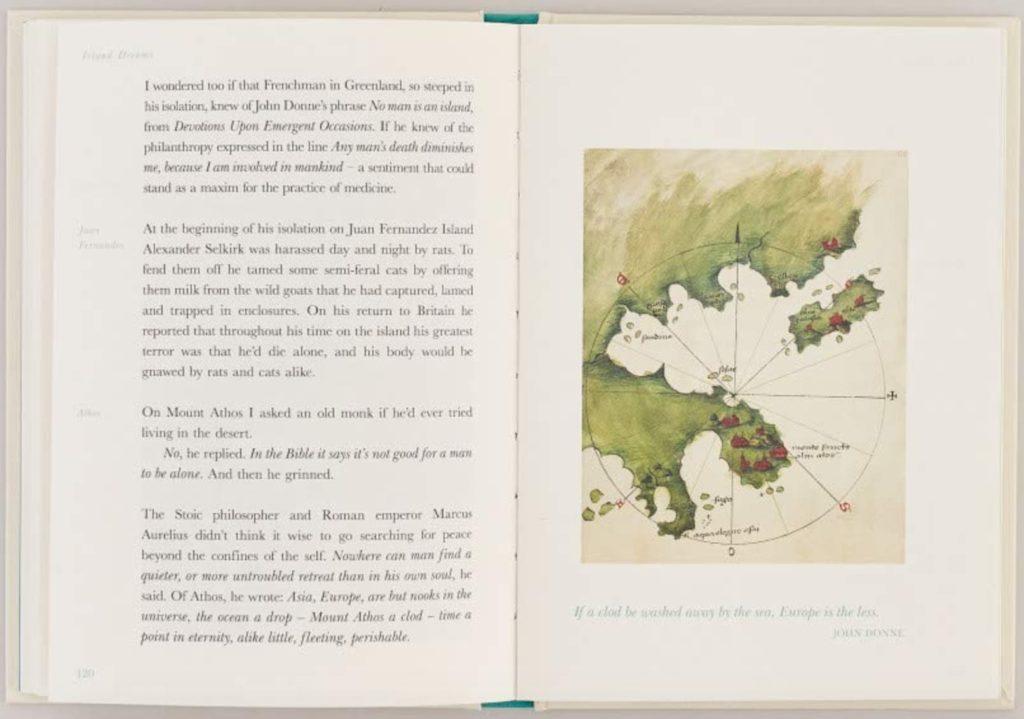 """Intérieur du livre """"Island Dreams"""" de Gavin Francis. Un très beau livre."""