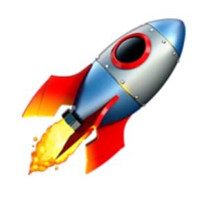 to the moon rocket  LinkedIn