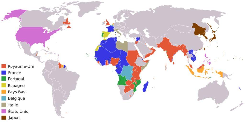 Pour rappel, en 1945, les empires coloniaux couvraient une énorme partie du globe.